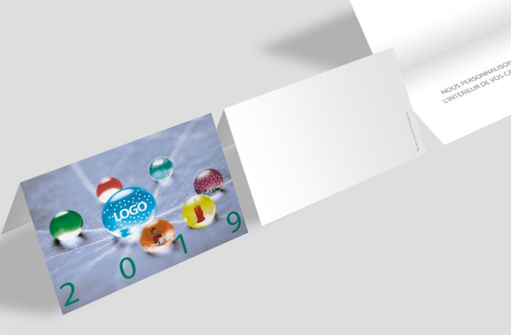 Carte Noël - Perles