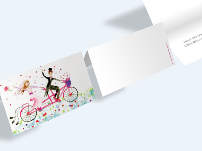 Carte Mariage - Tandem
