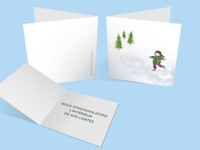 Carte Noël - Je patine