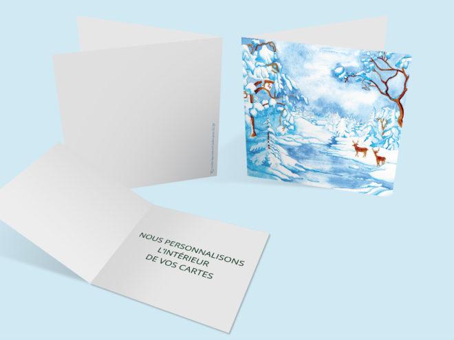 Carte Noël - Paysage Hivernal
