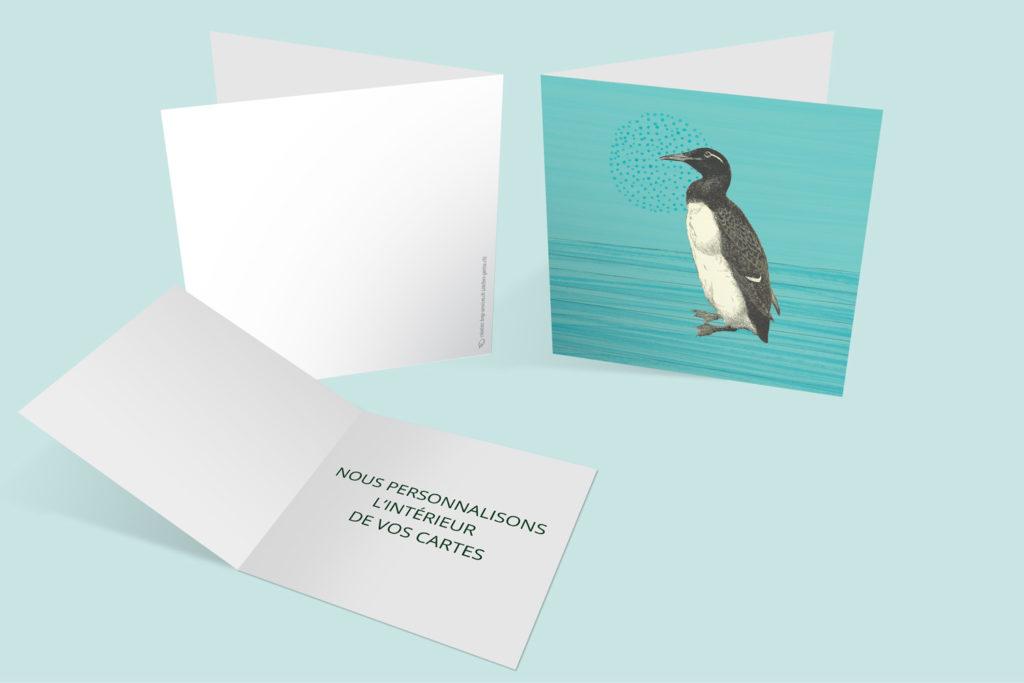 Carte Noël - Pinguin