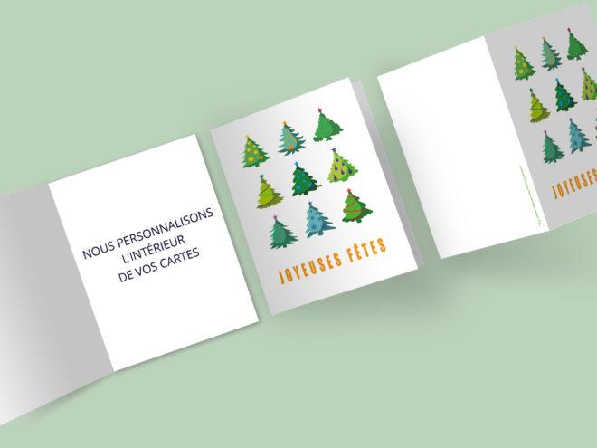 Carte Noël - Sapins Noël Dodus