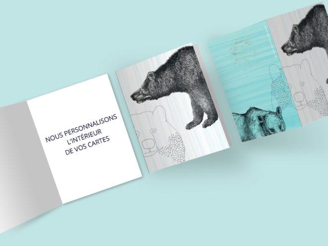 Carte Noël - Trois Ours
