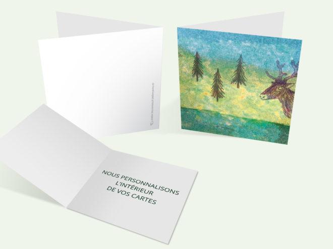 Carte Noël - Champêtre