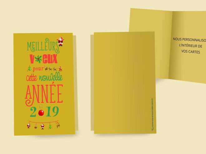 Carte Noël - Doré, Doré