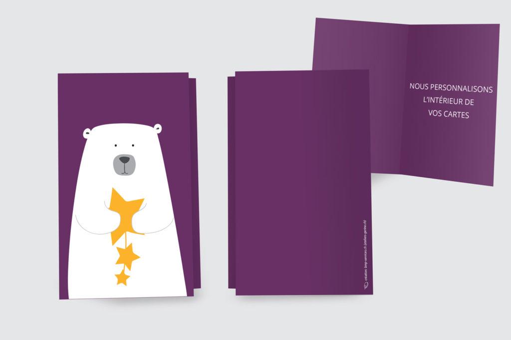 Carte Noël - l'Ours à l'Étoile