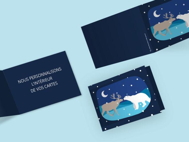 Carte Noël - Renne et Ours