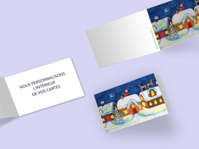 Carte Noël - Renne sur le Toit