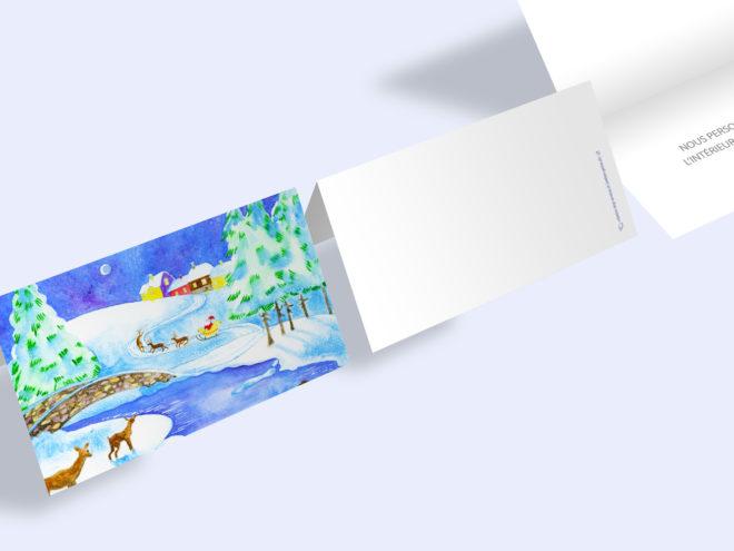 Carte Noël - Rivière Enneigée