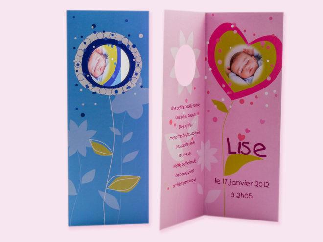 Carte Naissance - Fleurette