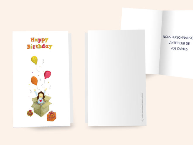 Carte Anniversaire - Happy
