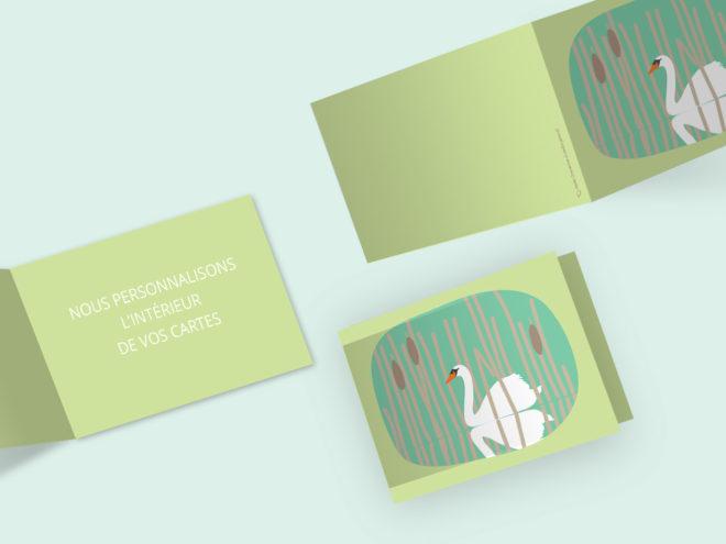 Carte Deuil - Cygne