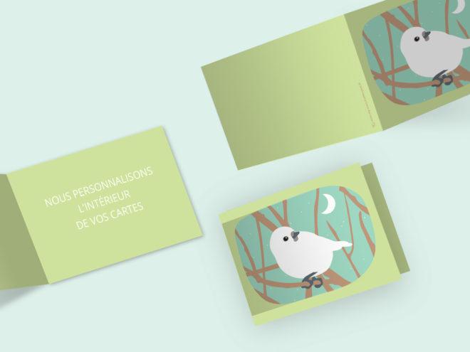 Carte Deuil - Oiseau Blanc