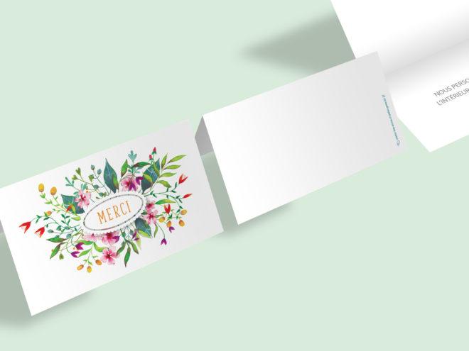 Carte Toutes Occasions - Couronne de Fleurs