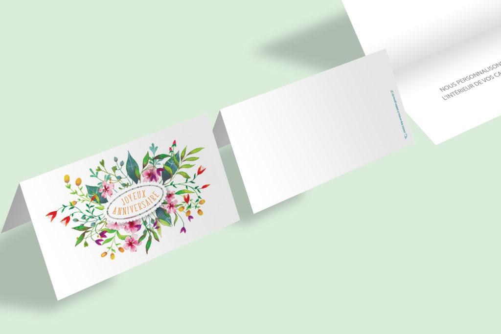 Carte Anniversaire - Fleurs