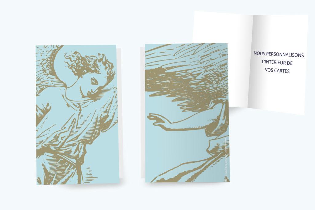 Carte Deuil - Ange Bleu