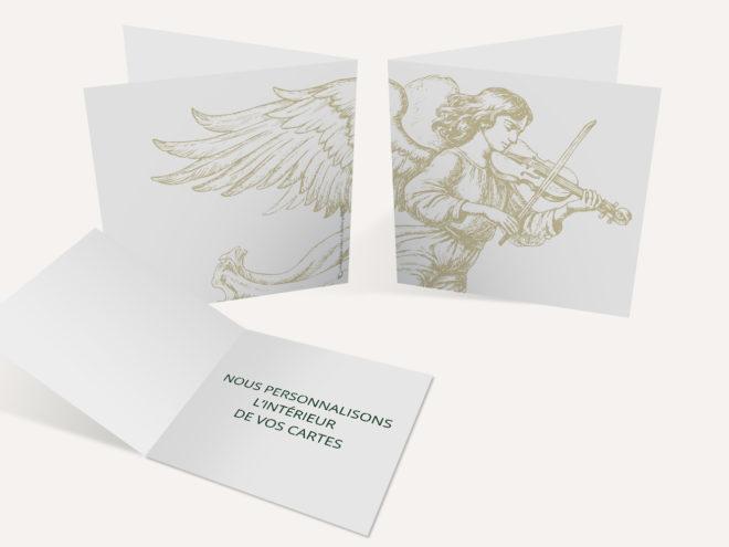 Carte Deuil - Ange Violoniste