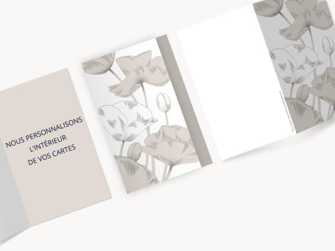 Carte Deuil - Coquelicot
