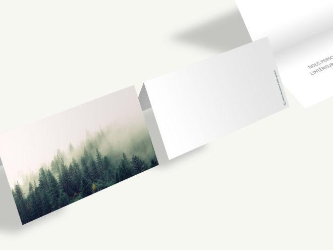 Carte Deuil - Forêt et Brume