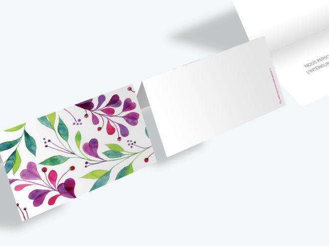Carte Mariage - Fleurs Violettes