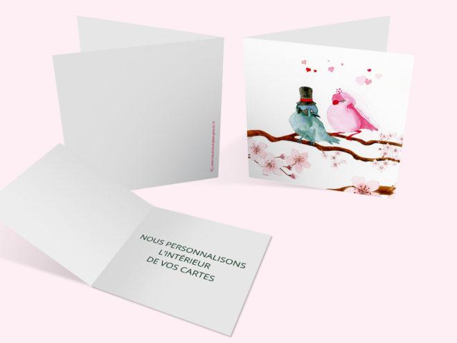 Carte Mariage - Mariage Oiseaux
