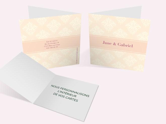 Carte Mariage - Tapisserie