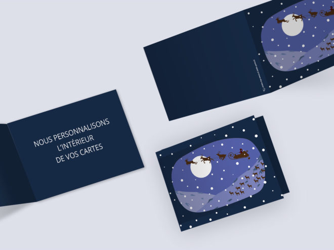 Carte Noël - Au clair de Lune