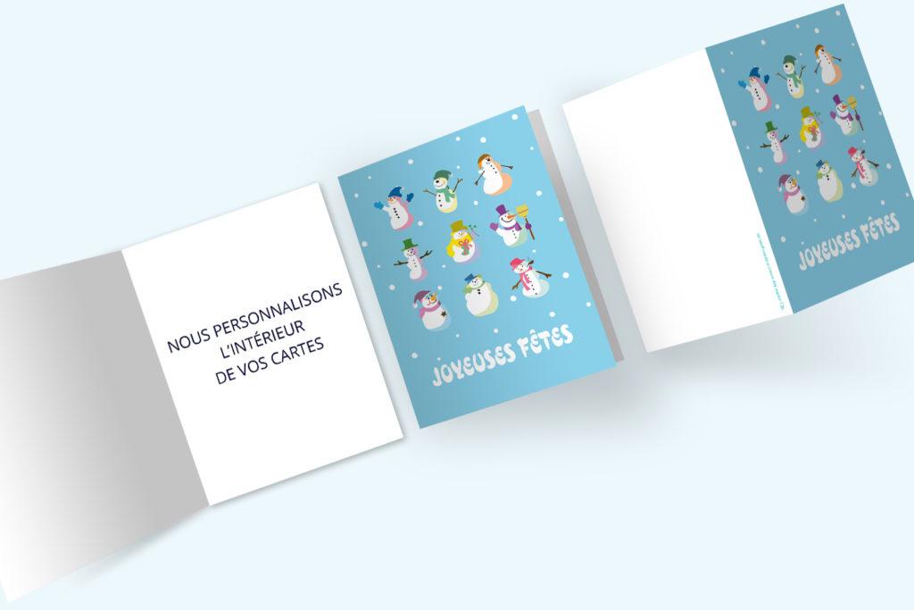 Carte Noël - Bonhommes de Neige