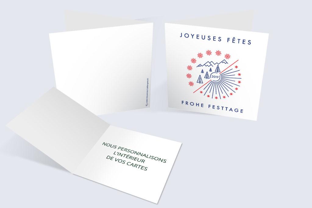Carte Noël - Cercle Flocons