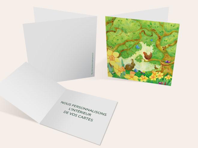 Carte Pâques - Ambiance de Pâques