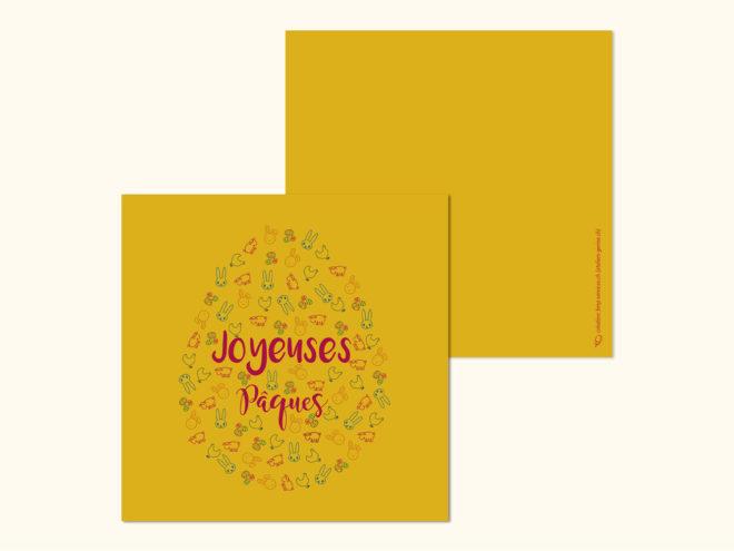 Carte Pâques - Oeuf