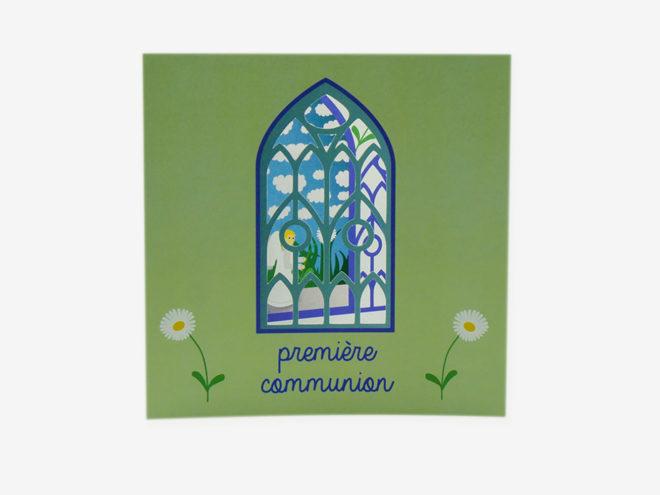 Carte Première Communion - Cloître