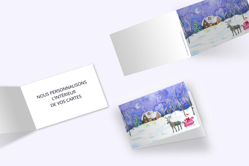Carte Noël - Chaumière